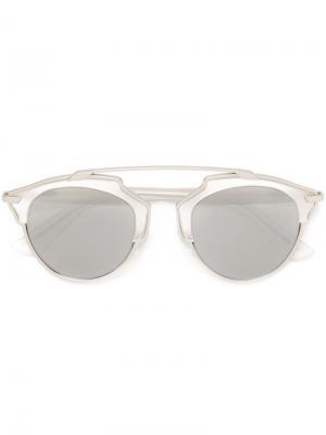 Солнцезащитные очки So Real Dior Eyewear. Цвет: металлический