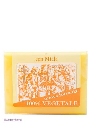 Натуральное глицериновое мыло с  медом, 150 гр Iteritalia. Цвет: оранжевый