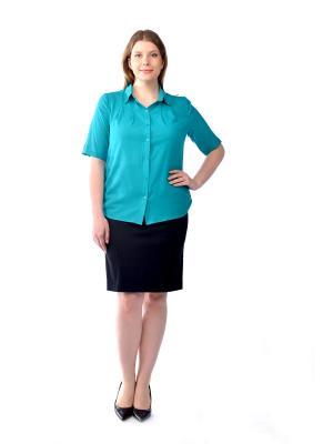 Блузка LikModa. Цвет: бирюзовый