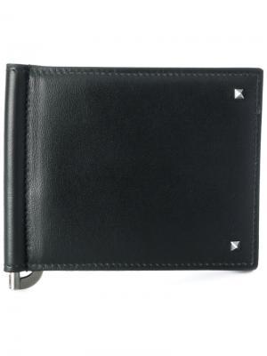 Бумажник с мелкими заклепками  Garavani Valentino. Цвет: чёрный