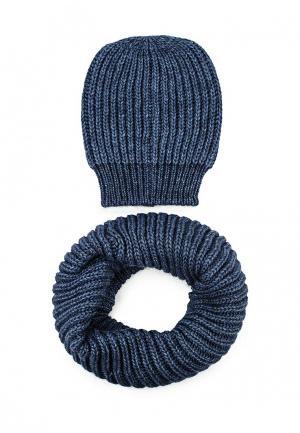 Комплект шапка и снуд Venera. Цвет: синий