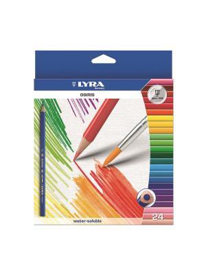 Lyra osiris aquarell  24 цв, цветные акварельные карандаши. Цвет: синий, желтый, белый