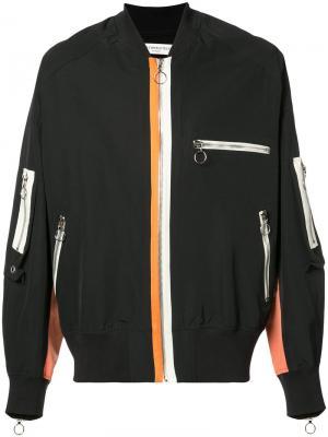 Куртка-бомбер с молниями Mr. Completely. Цвет: none