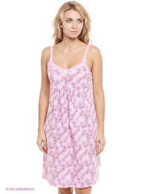 Сорочка для беременных и кормящих Hunny Mammy. Цвет: розовый