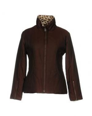 Куртка KRIZIA JEANS. Цвет: темно-коричневый
