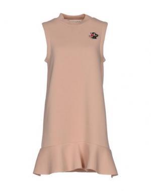 Короткое платье NINEMINUTES. Цвет: телесный