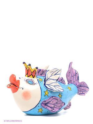Заварочный чайник Рыба Королева Blue Sky. Цвет: голубой