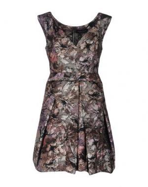 Короткое платье NORA BARTH. Цвет: платиновый