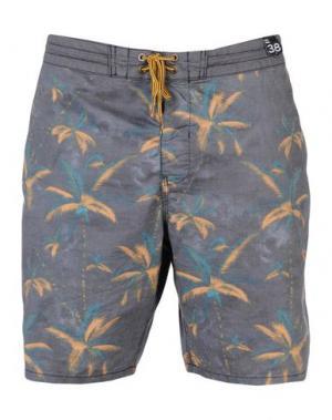 Пляжные брюки и шорты BILLABONG. Цвет: свинцово-серый