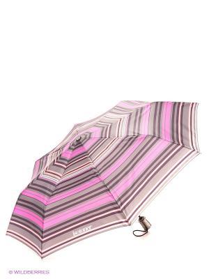 Зонт Isotoner. Цвет: фуксия, оранжевый, темно-серый