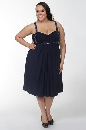 Платье с запахом на бретелях Mona Kalin. Цвет: синий