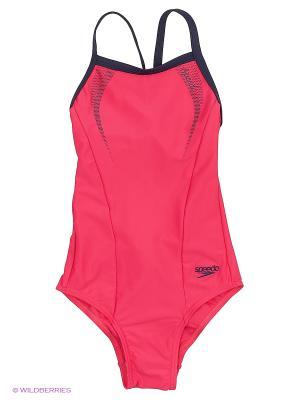 Слитный купальник Speedo. Цвет: розовый, синий