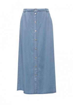 Юбка джинсовая Cortefiel. Цвет: голубой