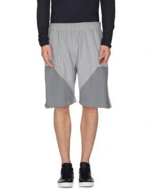 Бермуды U CLOTHING. Цвет: серый