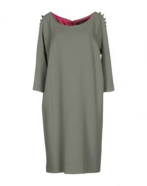 Платье до колена IVAN MONTESI. Цвет: зеленый-милитари