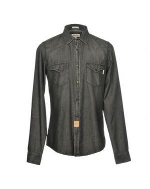 Джинсовая рубашка ROŸ ROGER'S. Цвет: черный