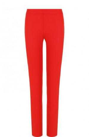 Однотонные брюки прямого кроя из шерсти La Perla. Цвет: красный