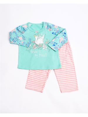Пижама Mark Formelle. Цвет: светло-зеленый,розовый,белый