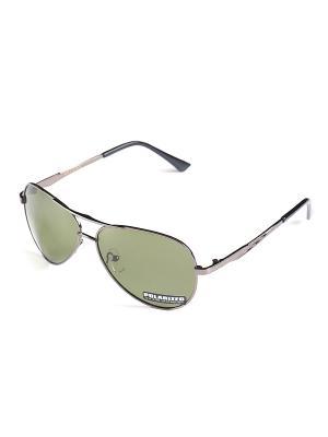 Солнцезащитные очки Selena. Цвет: серый, зеленый