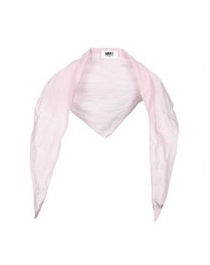 Шаль MM6 MAISON MARGIELA. Цвет: розовый