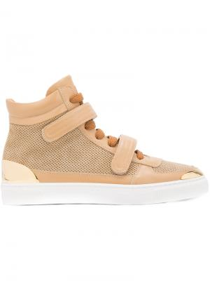 Double strap hi-top sneakers Louis Leeman. Цвет: телесный