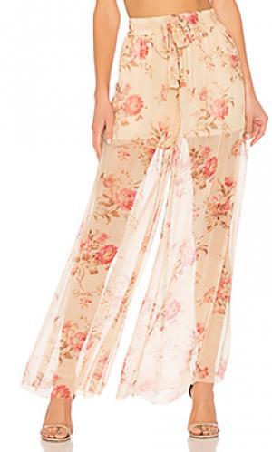 Широкие брюки Zimmermann. Цвет: кремовый