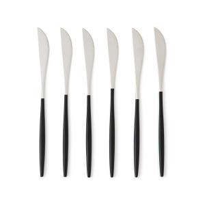 Комплект из 6 ножей нержавеющей стали Barbule AM.PM.. Цвет: нержавеющая сталь/ черный