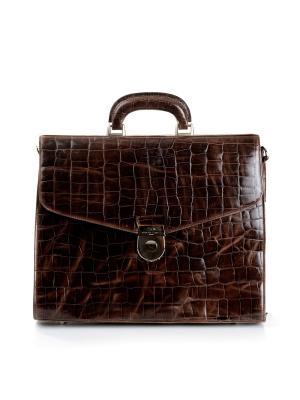 Портфель RENATO ANGI. Цвет: темно-коричневый
