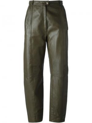 Прямые брюки Guy Laroche Vintage. Цвет: коричневый