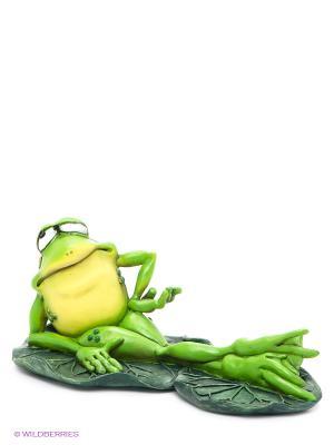 Фигурка-лягушка Фрогалина на отдыхе The Comical World of Stratford. Цвет: зеленый, белый, желтый, золотистый