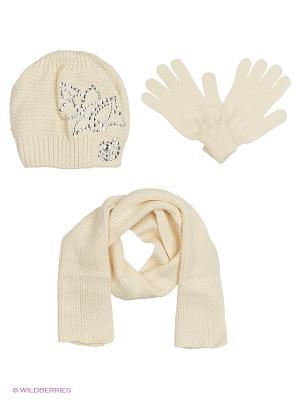 Шапка;  шарф; перчатки Krife. Цвет: молочный