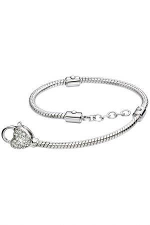 Ожерелье с застежкой сердце Sterlinks. Цвет: none