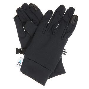 Перчатки женские  E&c Liner Glove True Black Roxy. Цвет: черный