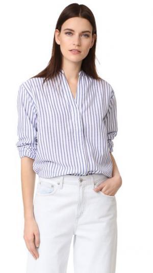 Воздушная рубашка Vale. Цвет: белый в тонкую синюю полоску