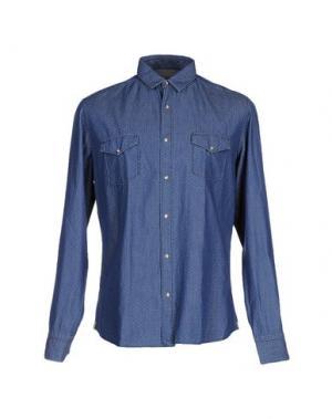 Джинсовая рубашка LUXURY. Цвет: синий