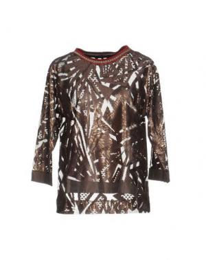 Блузка CUSTO BARCELONA. Цвет: светло-коричневый