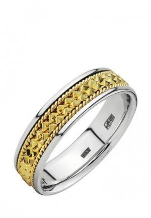 Кольцо обручальное Vangold. Цвет: серебряный