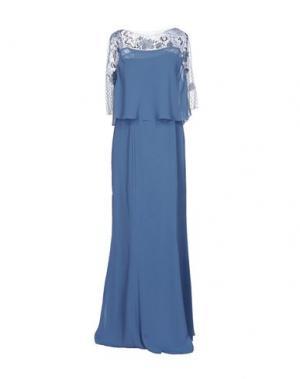 Длинное платье MUSANI COUTURE. Цвет: грифельно-синий