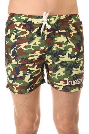 Шорты классические  Camo Shorts Green TrueSpin. Цвет: зеленый,коричневый,черный,камуфляжный