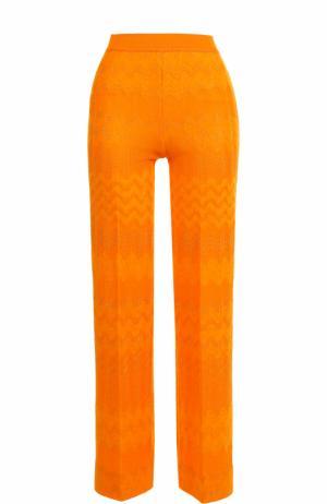 Укороченные расклешенные брюки Missoni. Цвет: оранжевый