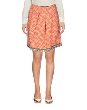 Мини-юбка MONOCROM. Цвет: оранжевый