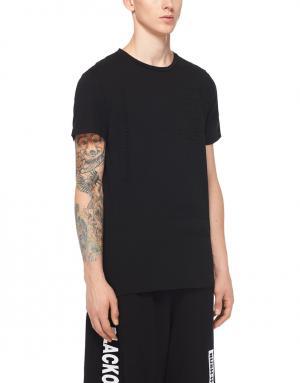 Хлопковая футболка Blood brother. Цвет: черный