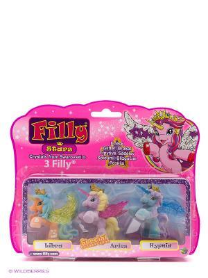 Игровой набор лошадки Филли/Filly Звезды Друзья Libra Aries Hypnia Dracco. Цвет: розовый
