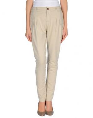 Повседневные брюки PRAIO. Цвет: бежевый
