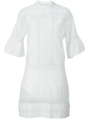 Платье Elena Ulla Johnson. Цвет: белый