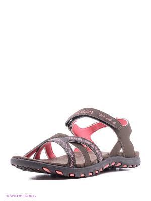 Женские сандалии Radder. Цвет: коричневый, красный