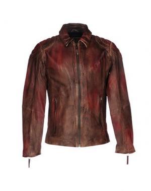 Куртка FREAKY NATION. Цвет: коричневый