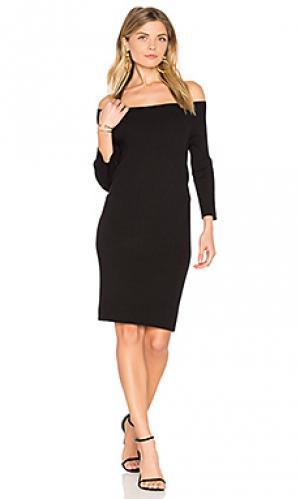 Вязаное платье с открытыми плечами 525 america. Цвет: черный