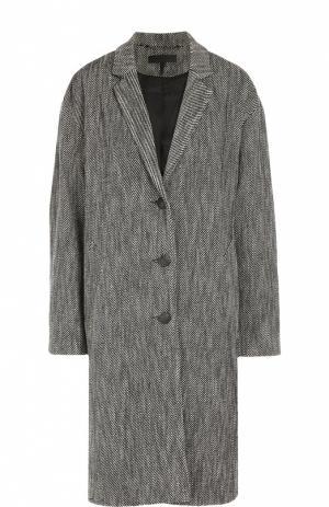 Пальто прямого кроя со спущенным рукавом Rag&Bone. Цвет: черный