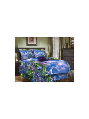 Комплект 1,5-спальный бязь ЭГО. Цвет: синий, зеленый